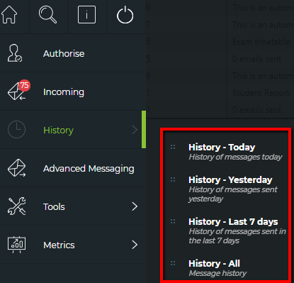 Messenger History