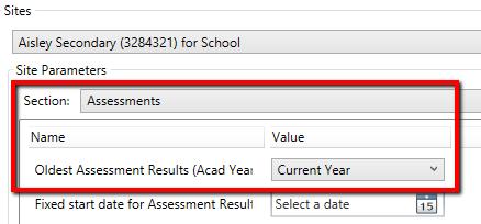 Assessment template configuration