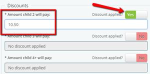 Activity discount