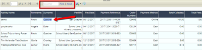 Payments detailed - Find