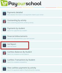 PayOurSchool VAT report