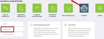 Messenger Forms: Create a form