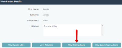 View parent transactions